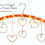 Vintage Twine Wrapped Wire Heart Mobile…